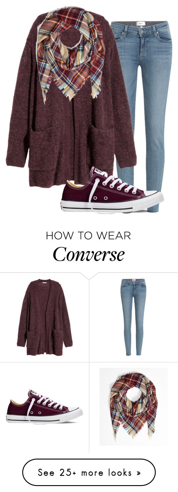 """Comment and follow to be in tag list..."" by abbeygracefromouterspace on Polyvore featuring Paige Denim, H&M, Converse, women's clothing, women, female, woman, misses and juniors"
