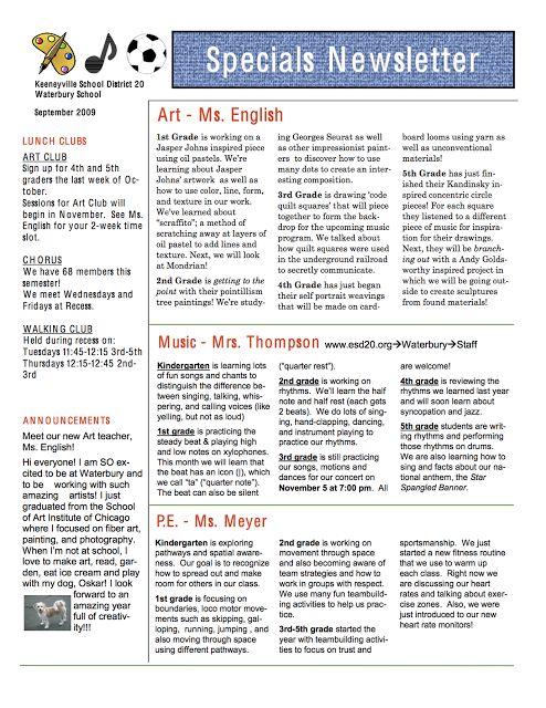 10 best School Stuff Newsletter ideas images on Pinterest Music - school newsletter