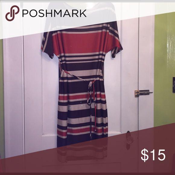 Striped Plus Size Dress 2x Striped Plus Size Dress 2x. Excellent Condition. Knee length. KSL Dresses Midi
