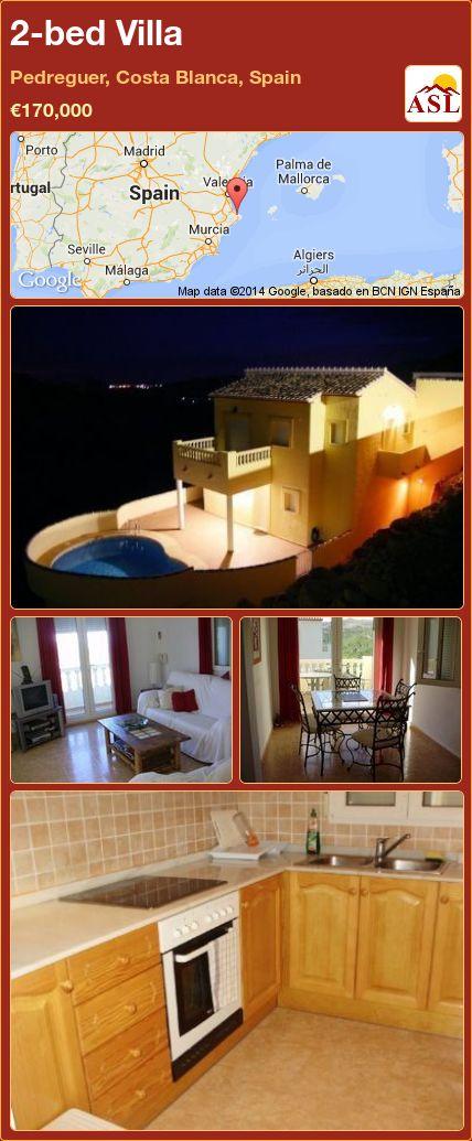 2-bed Villa in Pedreguer, Costa Blanca, Spain ►€170,000 #PropertyForSaleInSpain