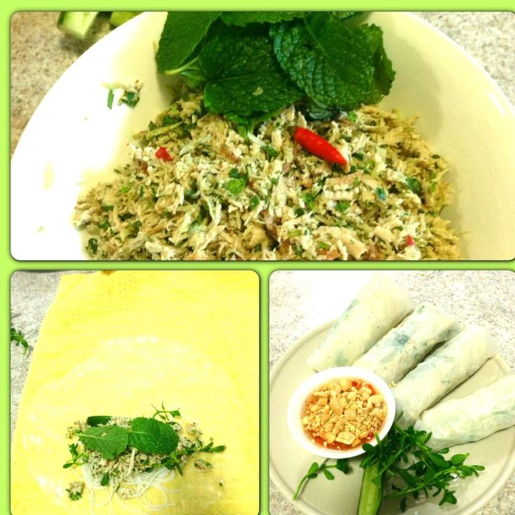 Recipe vietnamese spring rolls with dipping sauce by thermo-envy - Recipe of category Main dishes - others