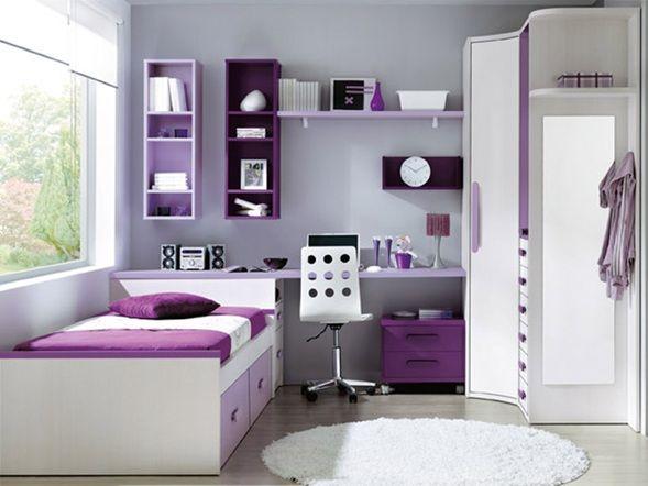 A continuación, mostramos una hermosa combinación de dormitorios juveniles con el color lila  para chicas, una grandiosa alternativa para d...
