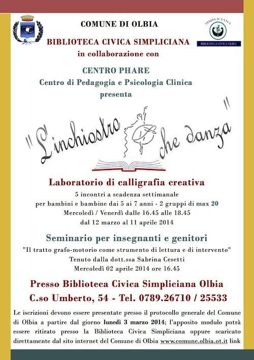 Comune di Olbia: Laboratorio di calligrafia creativa