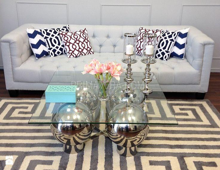 Konsola i stoliki kawowe stal Criss cross - Salon, styl nowoczesny - zdjęcie od PRIMAVERA-HOME.COM