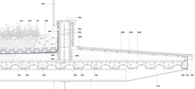 Detalle constructivo cubierta ajardinada sobre forjado for Forjado estructura metalica