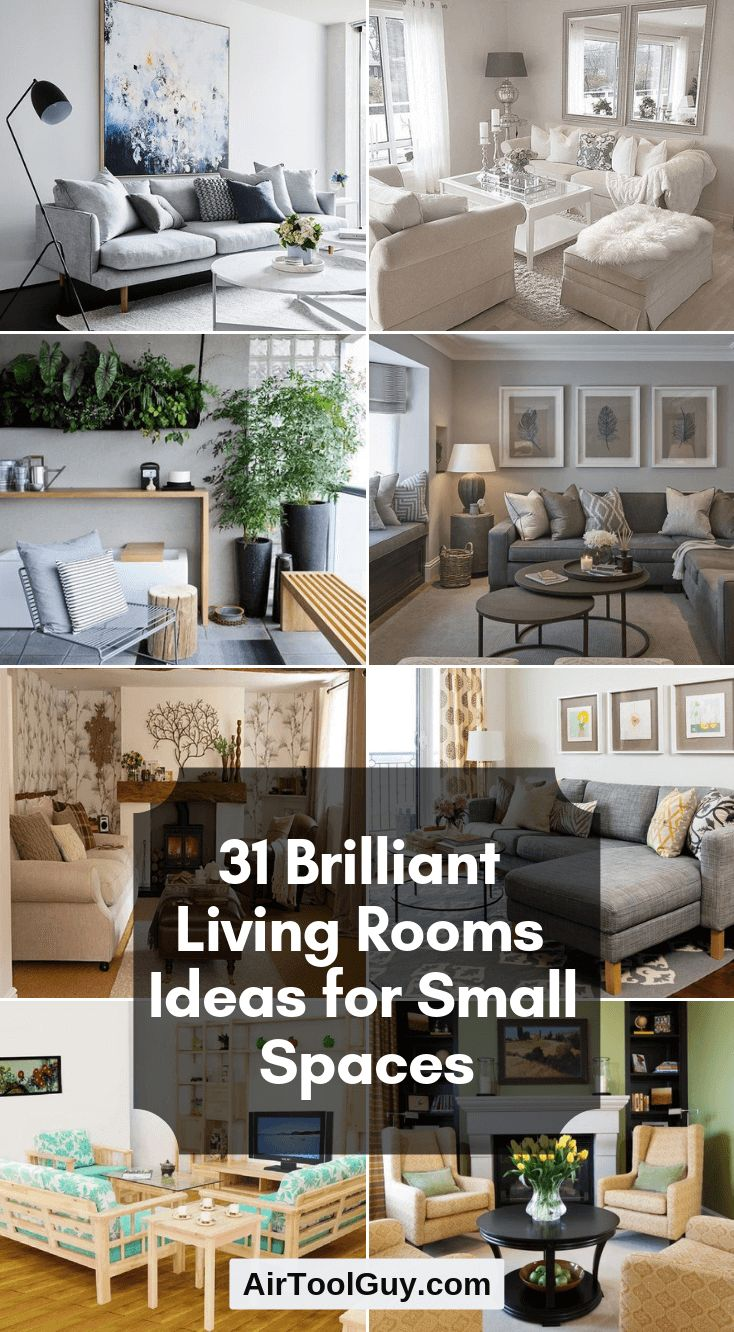 31 Brilliant Living Rooms Ideas for Small Spaces