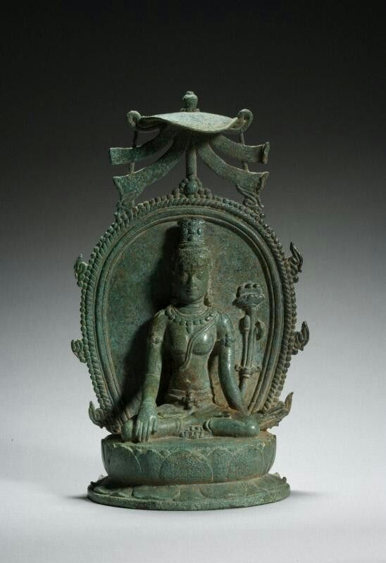 The Buddhist goddess Prajnaparamita Place of Origin: Indonesia, Sumatra, former kingdom of Srivijaya Date: approx. 800-1000 Materials: Bronze