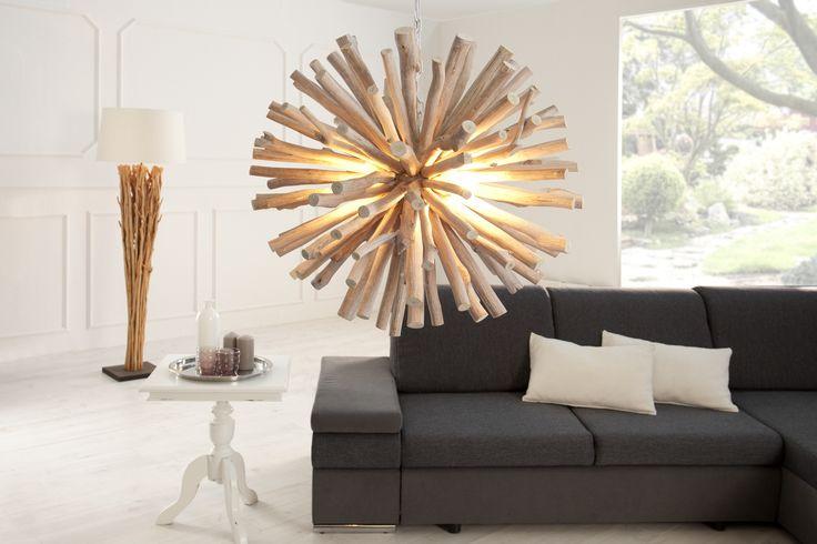 Visící lampa EUFORIA - přírodní