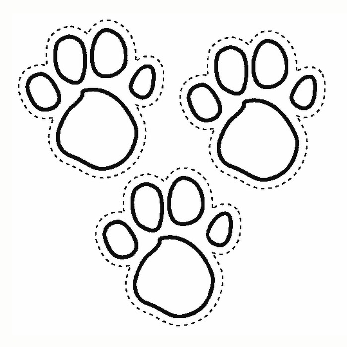 blues clues paw prints print coloring pagesblues