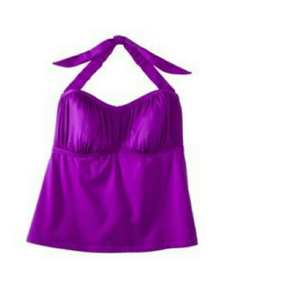 Plus size Tankini Swim Top size 2 Purple Tankini bathing suit top, plus size 2. Washed but never wore, sadly my boobs were not big enough for this to be flattering. Mossimo Supply Co Swim Bikinis