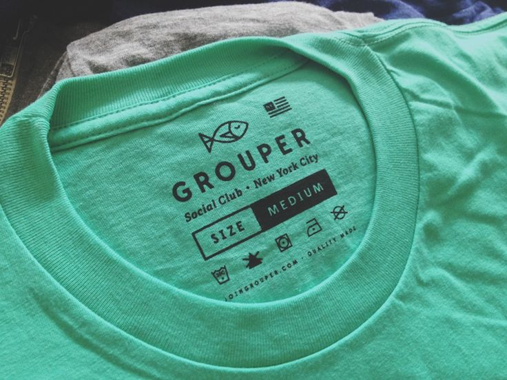 Grouper Clothing Tag by Kyle Anthony Miller