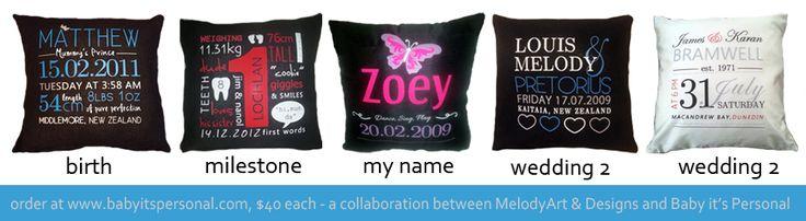 Keepsake Cushions http://www.babyitspersonal.com/store/c8/Keepsake_Cushions.html
