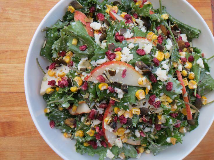 pear salad kale salad salad dressings pears vegetarian recipes yogurt ...