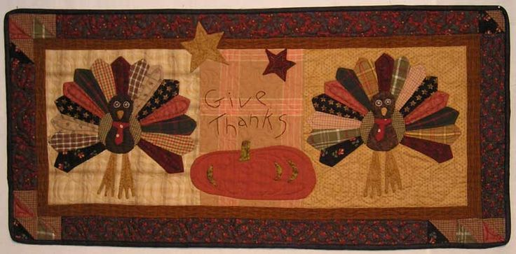 Dresden Turkey Mini-Quilt / Wall Hanging Pattern - Jan Patek Quilts: