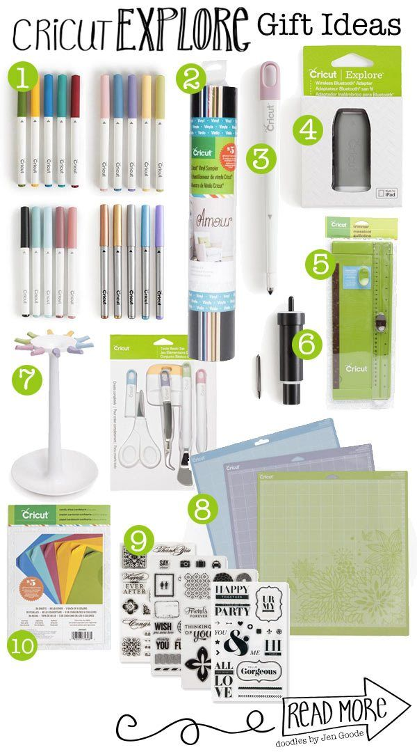 Cricut - Gift Ideas for the Cricut Explorer Crafter - looking for ideas to give someone who already has a Cricut Explore Cutting Machine.