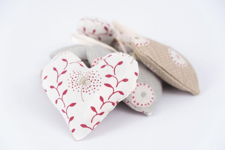 Handmade lavender hearts