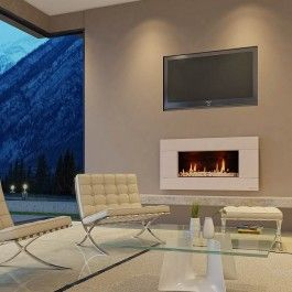 Escea ST900 Gas Fireplace With Suede Cream Ferro Fascia