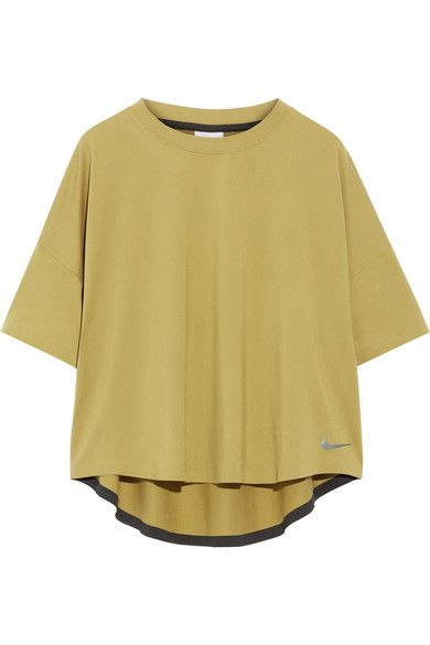 Nike - Nikelab Essentials Mesh-paneled Stretch Top - Chartreuse - x small