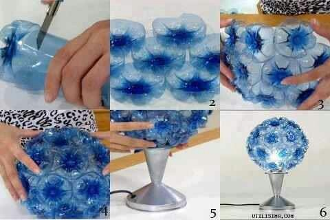 Lamp made it with plastic bottles