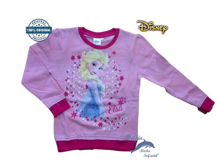 Sudadera FROZEN rosa estampado Elsa