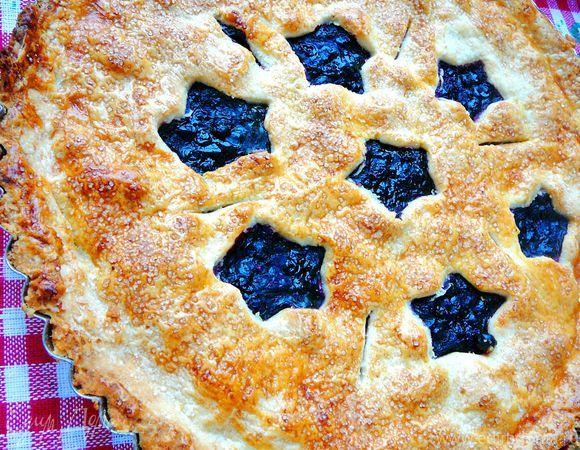 Классический черничный пирог