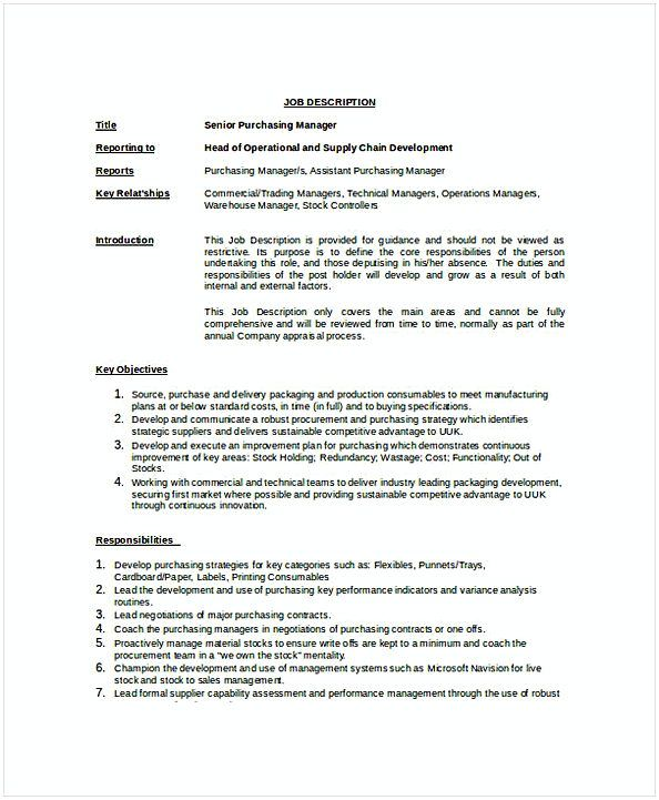 Senior Purchasing Manager Job Description Template Purchasing Manager Resume If You Were Interested In Purchasing Ma Purchase Manager Manager Resume Resume