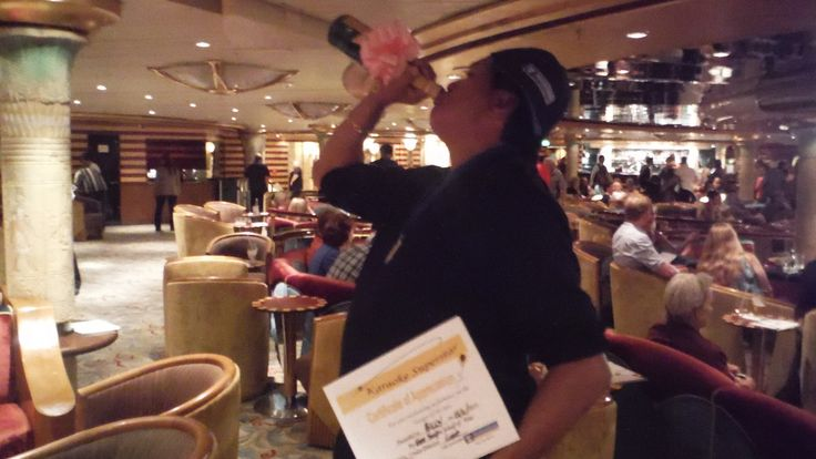 "Cruise ship ""Karaoke King of the Seas"""