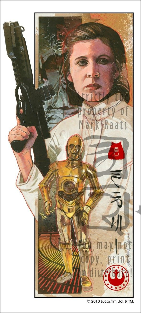 Mark Raats - Star Wars: Leia Organo, News, Videos Games, Mark Raat, Stars War Food, Markraat, Paintings, Accessories, Read Princesses