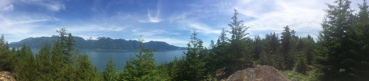 This is a panoramic picture of Lions Bay Harbour and Marina seen from #GambierIsland #BC