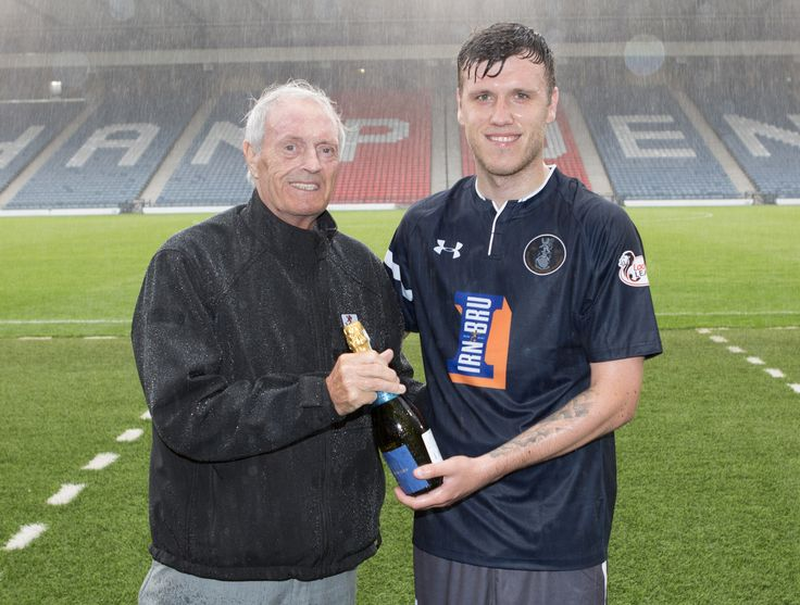 Queen's Park's Adam Cummins - Man of the Match - after the Betfred Cup game between Queen's Park and Motherwell.