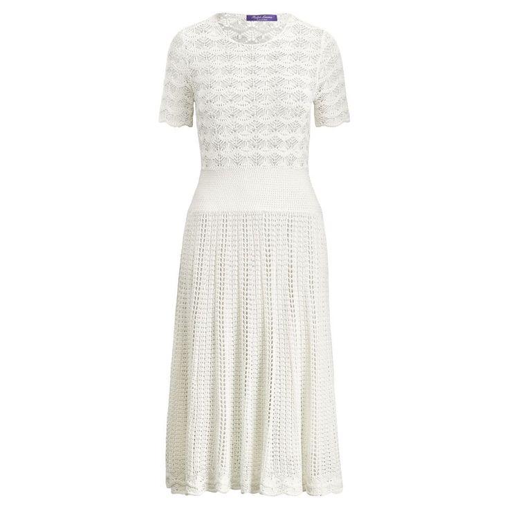 RALPH LAUREN Collection Apparel Fit-and-Flare Silk Dress. #ralphlauren #cloth #