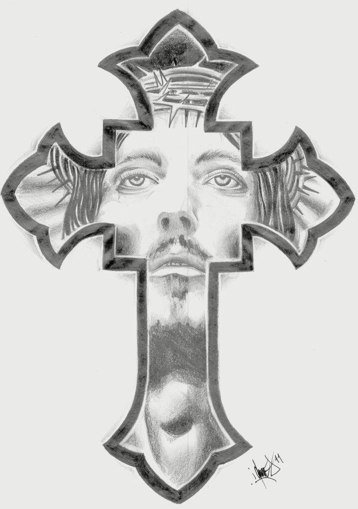 cross tattoo christ | productos que adoro | Pinterest ...