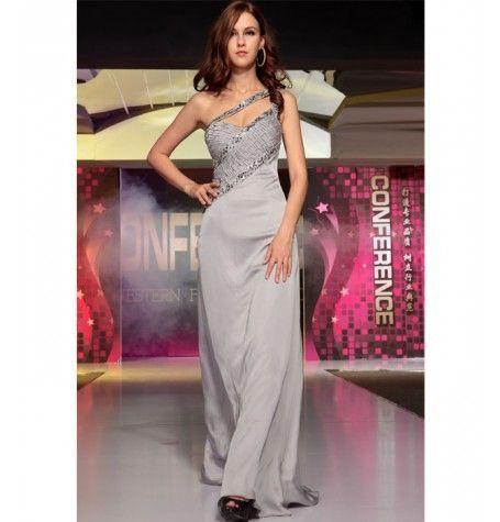 Grey Satin Dress by Belonda