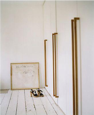 Long, wood, door handles