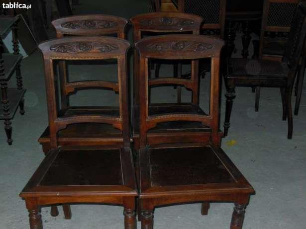 Antyki meble secesja XIX/XX w. stół z krzesłami Strzegom - image 7