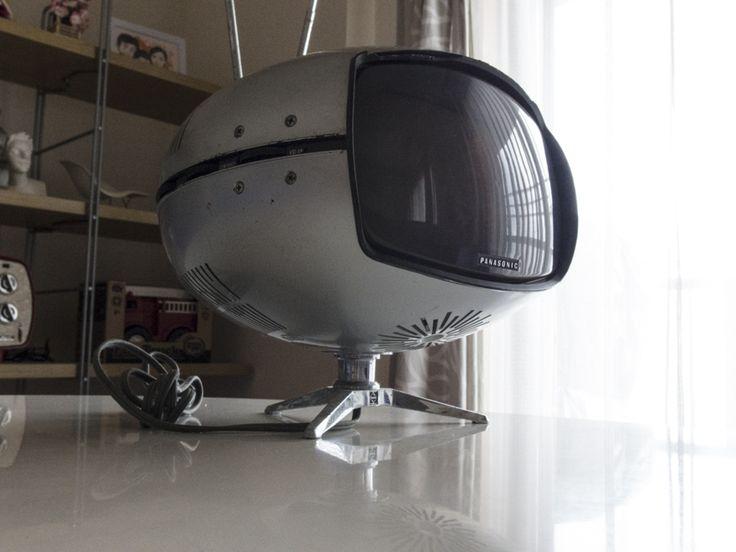 希少☆ナショナル Panasonic トランジスターTV TR-005 (TR-603A)スペースエイジ ミッドセンチュリー ブラウン管 デザイン家具_画像4