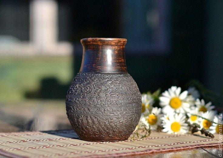Купить Ваза для цветов глиняная крынка Любимая - деревенский стиль, деревенский дом, традиционная крынка