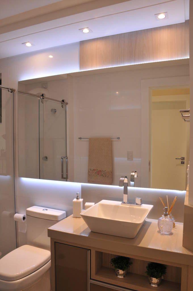 25+ melhores ideias sobre Banheiros pequenos modernos no Pinterest  Disposiç -> Banheiros Sociais Modernos