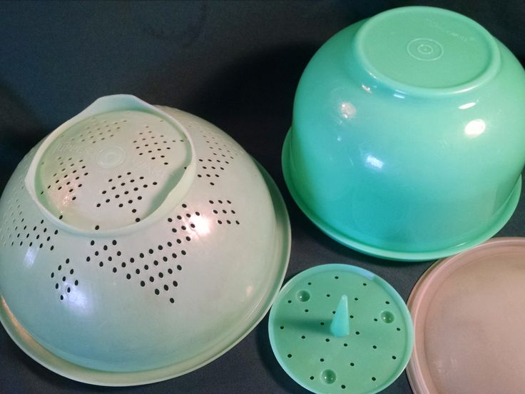 Vintage Tupperware, Tupperware, Lettuce Crisper, Tupperware with Lids, Tupperware Colander, Kitchen Tupperware, 4 Piece, Tupperware Sets by Vintagepetalpushers on Etsy