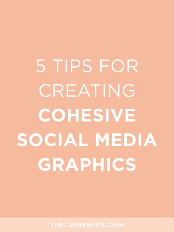 Cohesive Social Media Graphics, Creating consistent and visual appealing social media graphics doesn't have to be difficult. Build a cohesive presence for your online business on Twitter, Instagram, Facebook, Pinterest, LinkedIn, Youtube, and more! Click through to get tips adn tricks. | TheCrownFox | www.TheCrownFox.com | Branding + Design