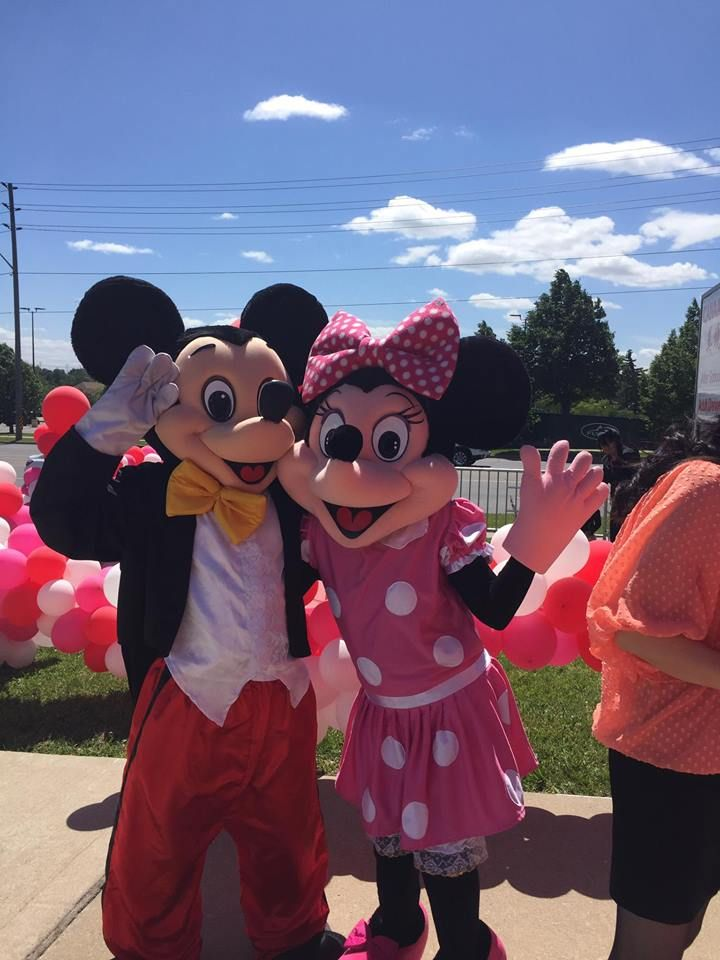 Mickey Mouse and Minnie Mouse Mascots. We offer Mascot Rentals and Character Visit services