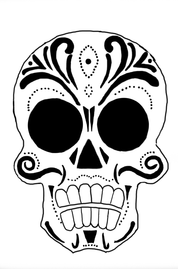 Did A Little Sugar Skull Drawing This Morning Not Sure