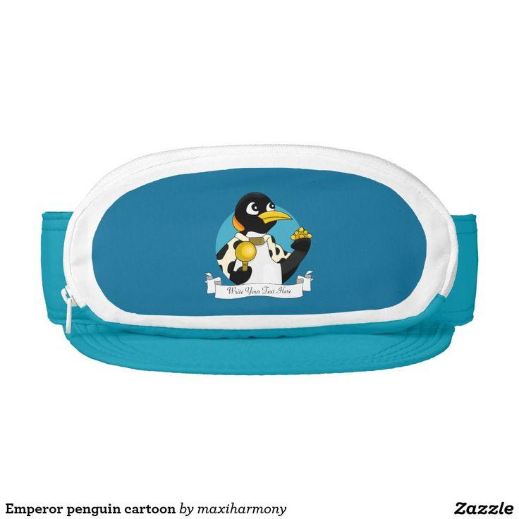 Emperor penguin cartoon visor