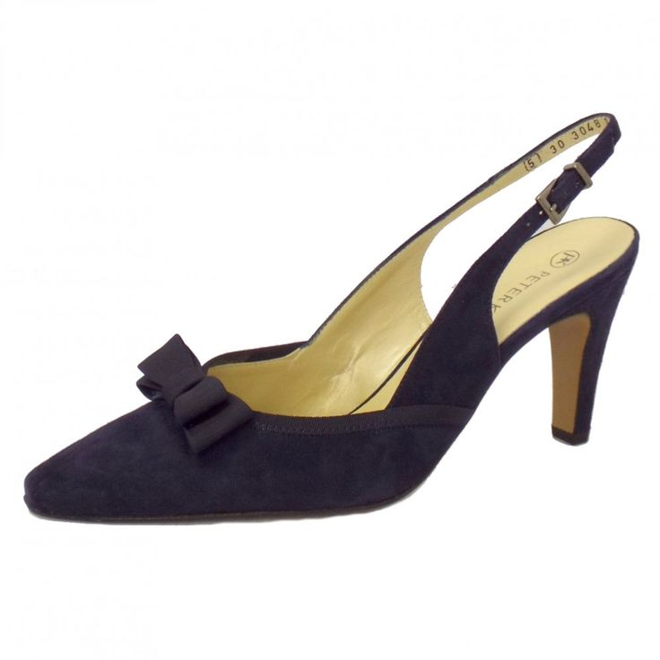 Peter Kaiser UK stockists, Tanina navy suede slingback high heel shoes with  free UK delivery and returns.