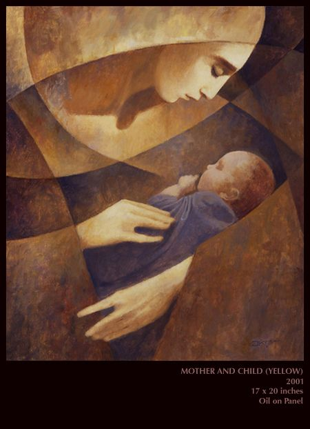 My all time favorite painting of Mary and baby Jesus. By J. Kirk Richards