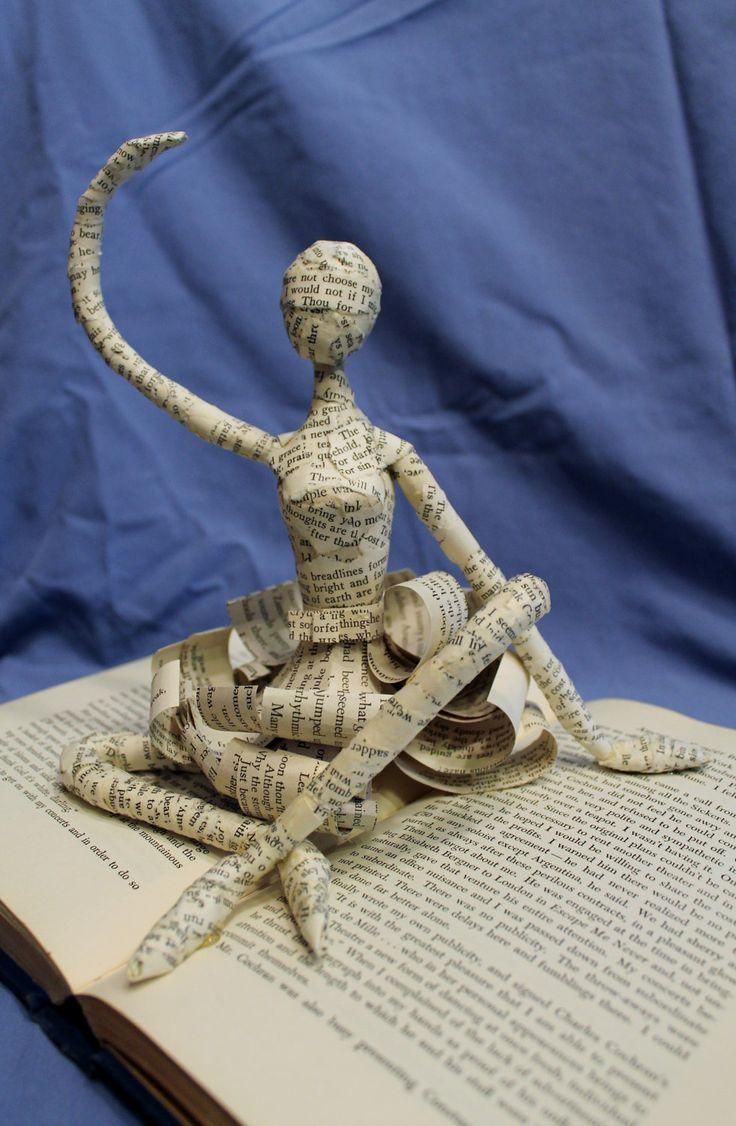 Dancer Book Sculpture by Jodi Harvey-Brown @ WetCanvasArt via Etsy