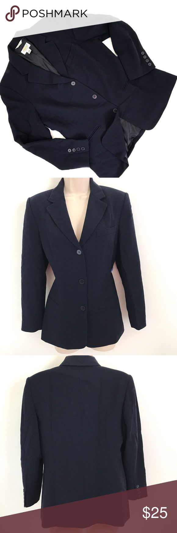"""TALBOTS Blazer Button Down Suit Jacket Wool Brand: Talbots  Tagged Size: 8 PETITES  Total Length:25""""  Sleeve Length:22.5""""  Underarm to Underarm:19.5""""  Shoulder to Shoulder: 15""""   Condition: Nice Pre owned Blazer, in Great Shape. No Holes, Stains or Fading.  Fully Lined. Wool Fabric.      Item comes from a pet free/smoke free clean environment  please contact me for any additional questions  I offer combined shipping  155 Talbots Jackets & Coats Blazers"""