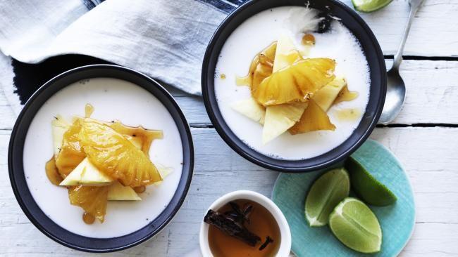 Chef Matt Moran: Coconut jellies with caramelised pineapple recipe #desserts #foodporn #easy-to-make