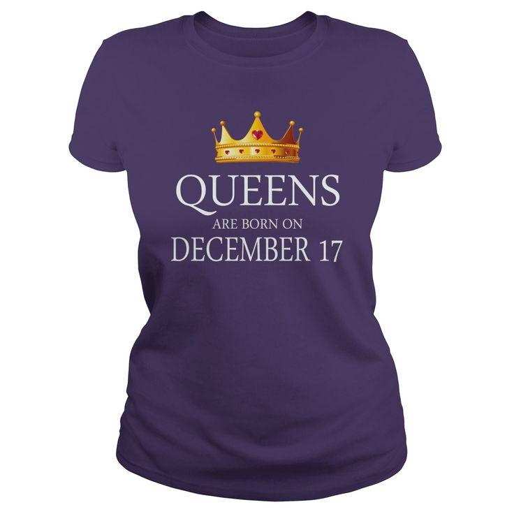 queens are Born december 17 shirts, december 17 birthday T-shirt, december 17 birthday queens Tshirt, Birthday december 17 T Shirt, queens Born december 17 Hoodie queens Vneck