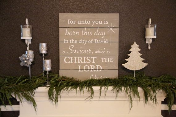 Luke 2:11 Christmas Hand Painted Wood Sign - Informational Listing DO NOT PURCHASE